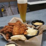 The chicken dinner and a beer at Urban Comfort Brewery in St. Petersburg
