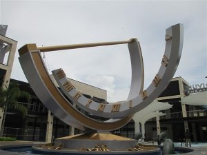 The large sundial in downtown St. Petersburg
